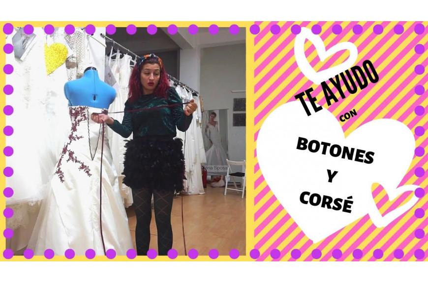 Cómo poner Corsé del Vestido de Novia y los Botones