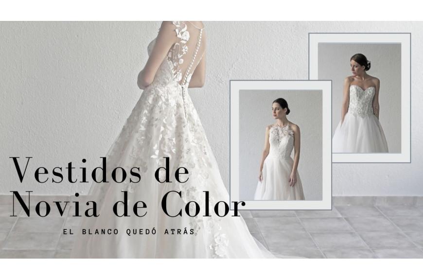 Vestidos de Novia de Color, el blanco quedó atrás.